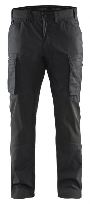 Blaklader 1459 Stretch Service Trousers - 65% Polyester/35% Cotton (Black)
